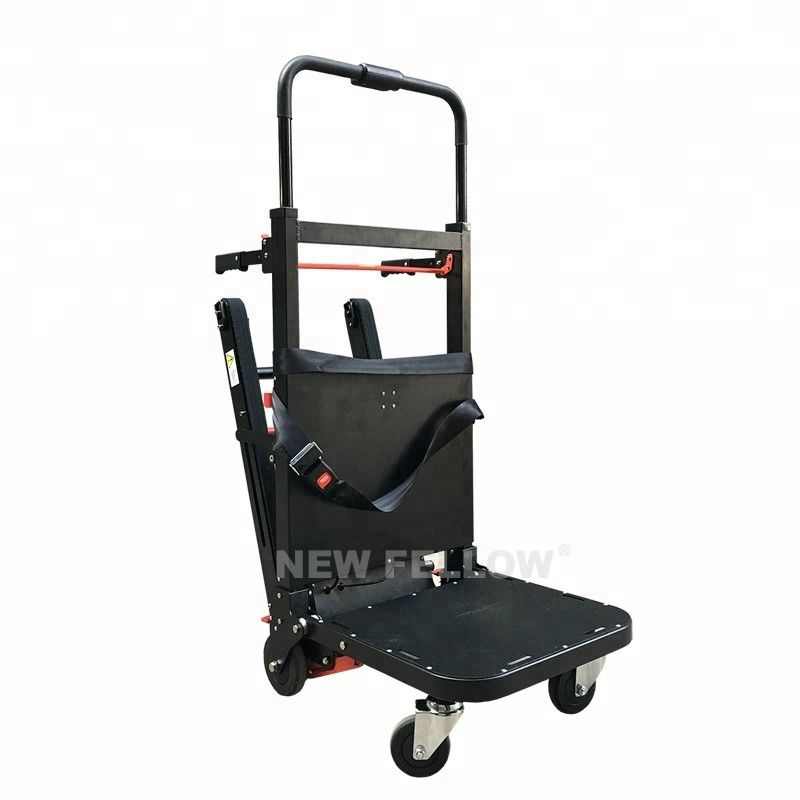 Black Color Motorized Stair Climbing Trolley , Stair Walker For Tools