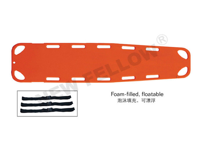 Foam - Filled Floatable Spine Board Stretcher , Wilderness Patient Transport Stretcher